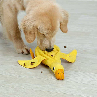 Yellow Duck Dog Training Toy