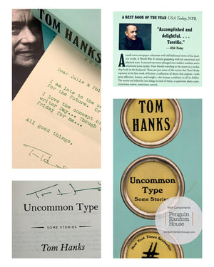 Tom Hanks signed book and Typewriter Giveaway