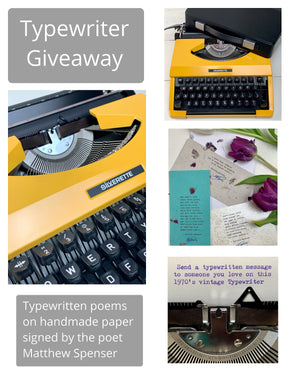Valentine's Day Typewriter Giveaway