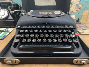 Typewriter, 1940 Remington No 5 Portable