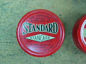 Set of 3 Typewriter Ribbon Tins, Trinity, Wycombe and Standard