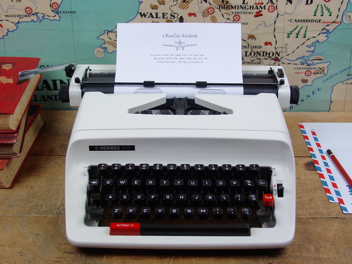 Hermes 305 typewriter from Charlie Foxtrot Typewriters
