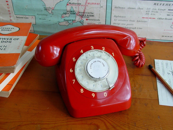 Telephone , Working Red 801 series Phone