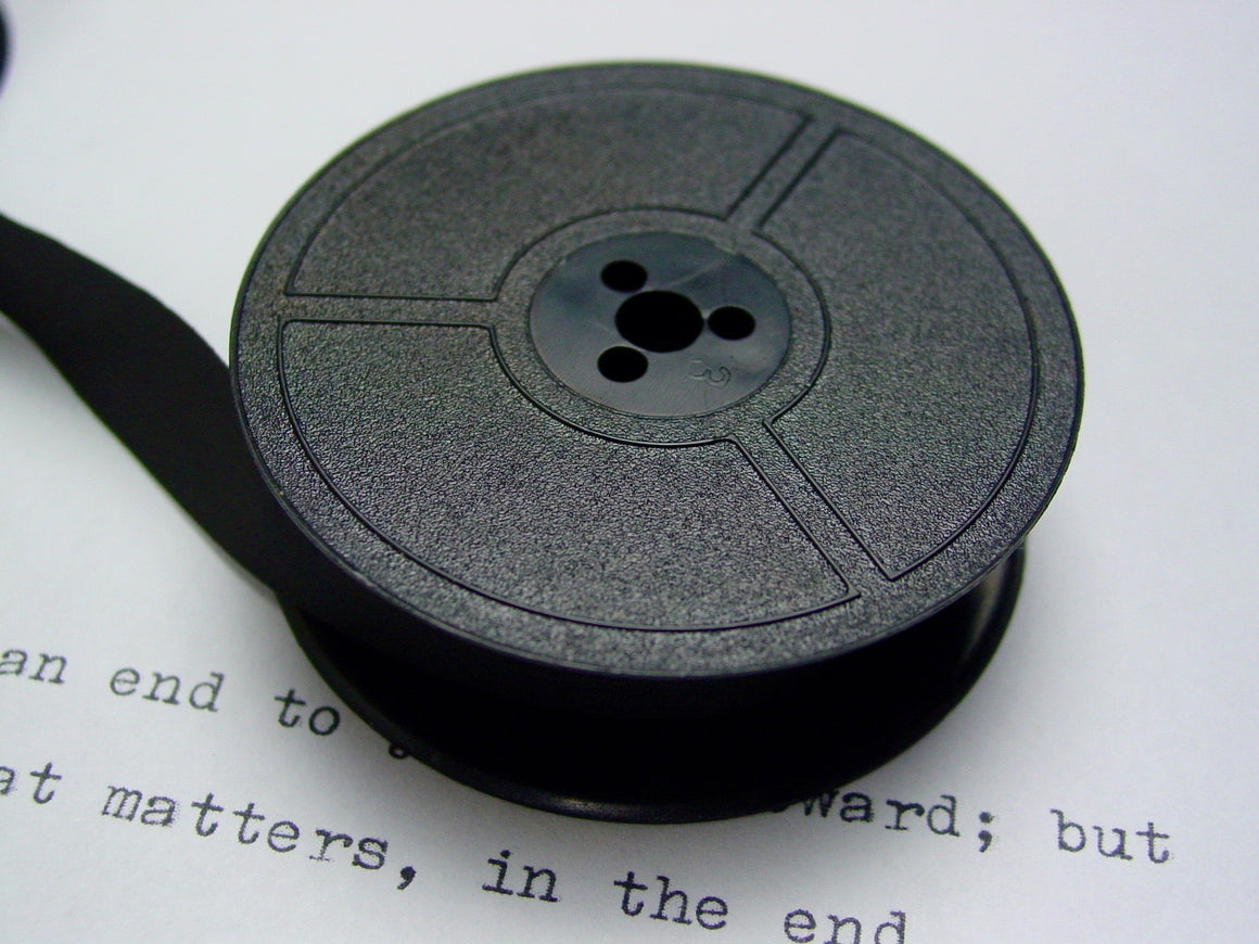 New Plain Black Group 1 Typewriter Ribbon for Olympia, Adler, Erika, Blue Bird, Triumph, Facit