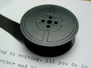 New Plain Black Group 9 Typewriter Ribbon for Brother , Hermes and earlier Underwoods