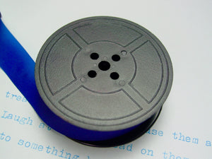 Plain Blue Group 9 Typewriter Ribbon for Brother , Hermes and earlier Underwoods