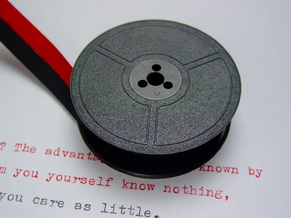 Red and Black Group 1 Typewriter Ribbon from Charlie Foxtrot