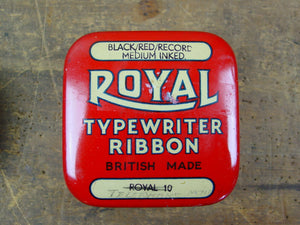 Set of 3 Typewriter Ribbon Tins, Clerkenwell , Royal and Wycombe