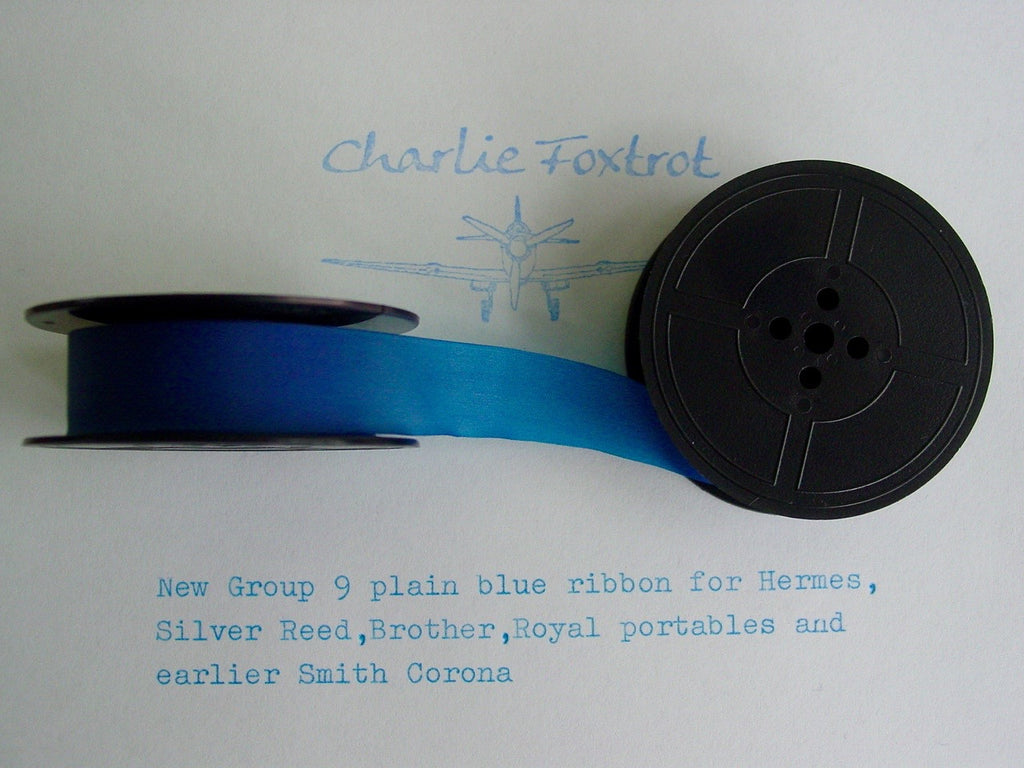 Plain Blue GR9 Typewriter Ribbon for Brother , Hermes and earlier Underwoods