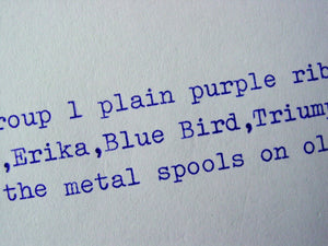 New Plain Purple Group 1 Typewriter Ribbon for Olympia, Adler, Erika, Blue Bird, Triumph, Facit