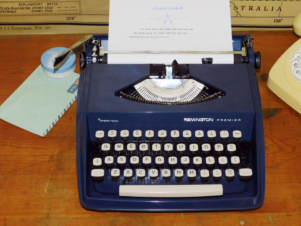 Typewriter ,  1960's Remington Premier-Sperry Rand