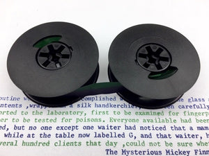 New Navy Blue and Green Universal Typewriter Ribbon