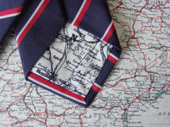 Charlie Foxtrot tie with map lining