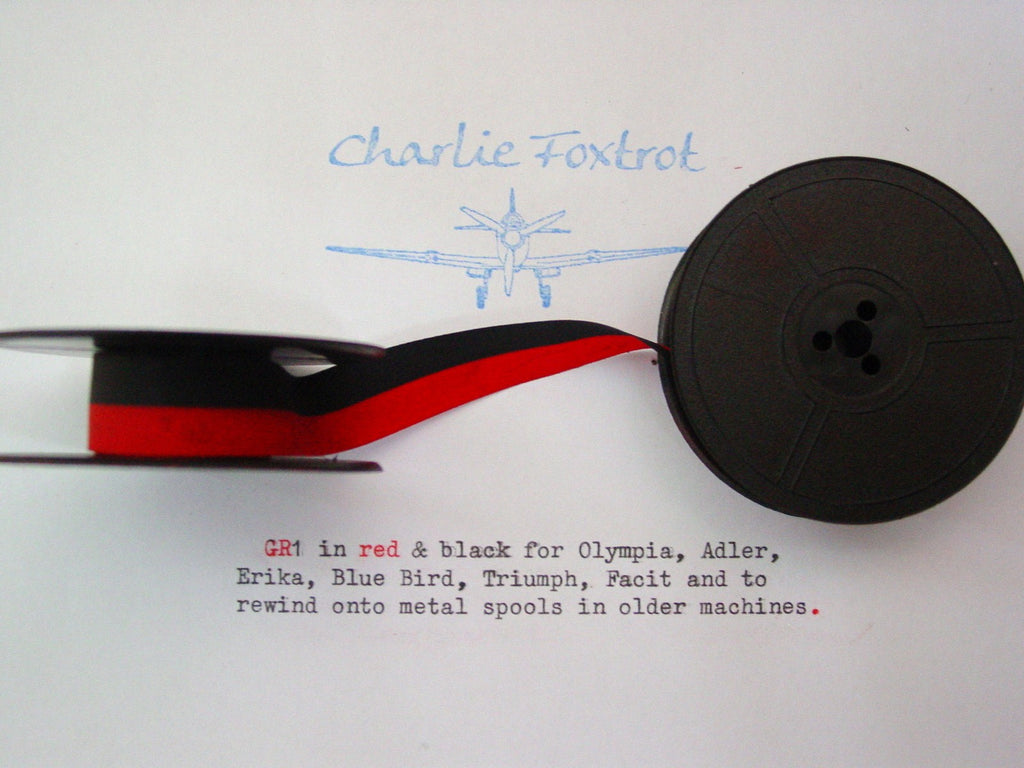 GR 1 red and black typewriter ribbon