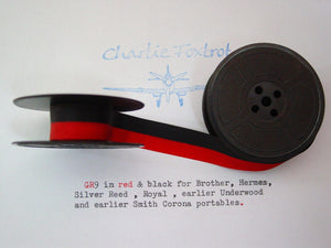 GR 9 red and black typewriter ribbon
