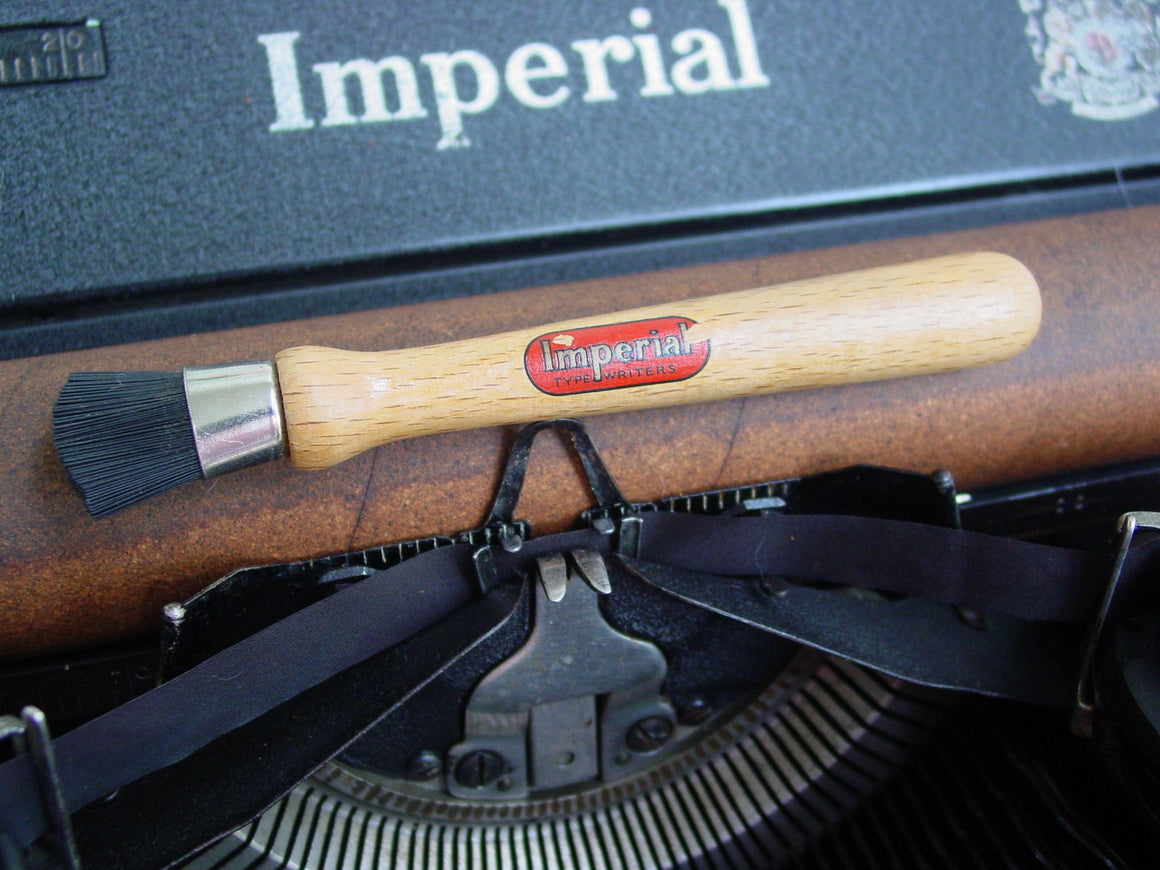 Vintage Imperial Typewriter Brush with logo