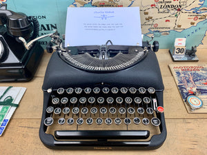 Remington Portable Typewriter from Charlie Foxtrot Typewriters