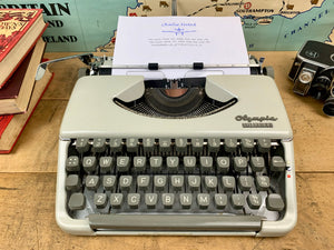 Olympia Splendid Typewriter from Charlie Foxtrot Typewriters