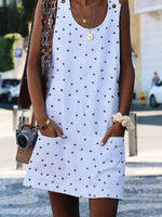 Crew Neck Casual Sleeveless Dresses
