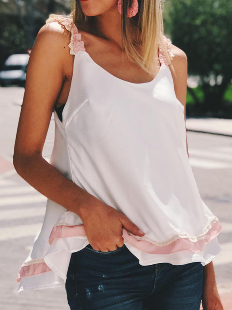 Summer Bowknot Back Sweet Camis
