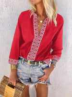 Plus Size Deep V Neck Casual Shirts