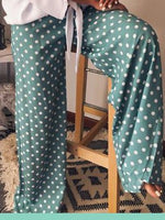 Cotton-Blend Polka Dots Pants