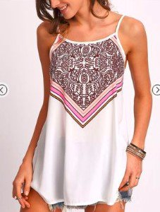 Summer Beach Casual Tribal Spaghetti Resort Long Camis
