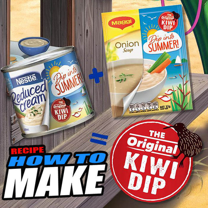 How to Make The Original Kiwi Dip (Maggi Onion Soup Mix)