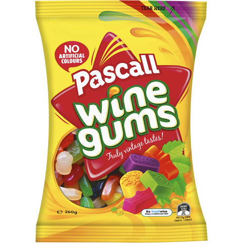 Pascall Wine Gums Candy New Zealand