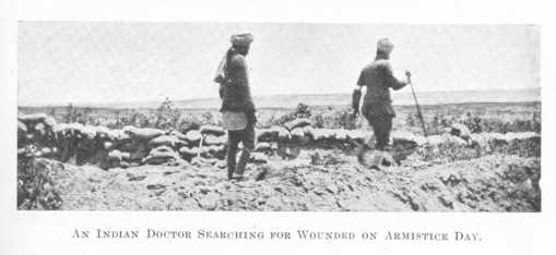 Indian Doctor searching for the wounded on Gallipoli Armistice