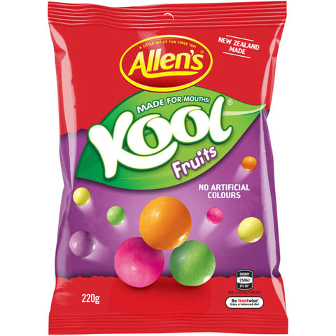 Allens Kool Fruits Candy New Zealand