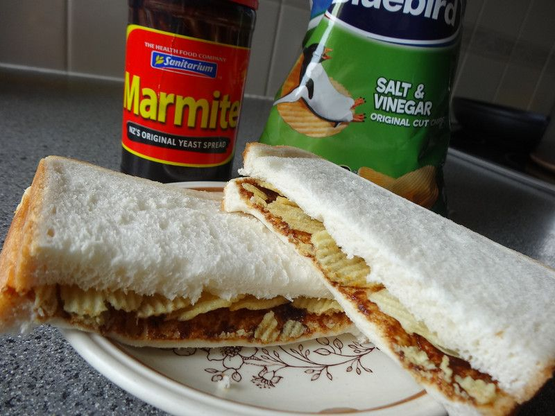 Marmite Potato Chip Sandwich