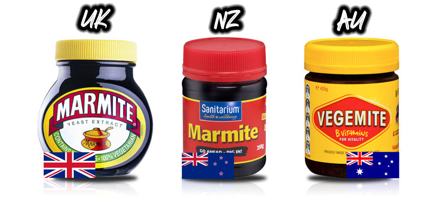 Marmite UK vs Marmite NZ vs Vegemite