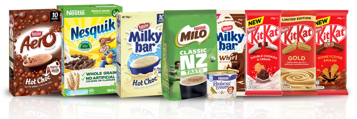 Nestle Products from New Zealand