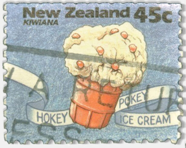 Vintage Hokey Pokey Ice Cream Stamp from New Zealand