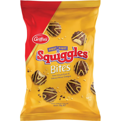 Griffins Squiggles Bites 150g Free Shipping