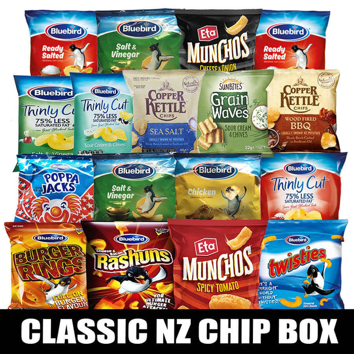 Classic NZ Chip Snack Box (17pcs)