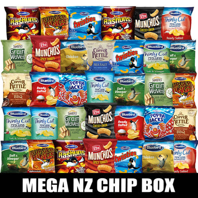 Mega NZ Chip Snack Box (34pcs)