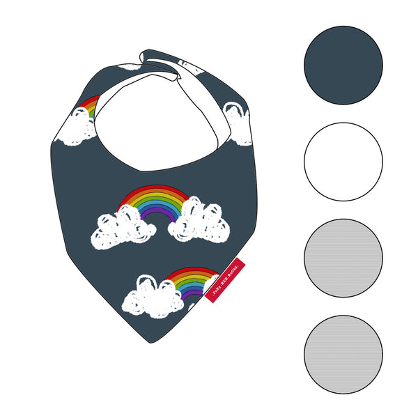 Be A Rainbow In Someone Elses Cloud - Bibs - FoXy RED RoCkS