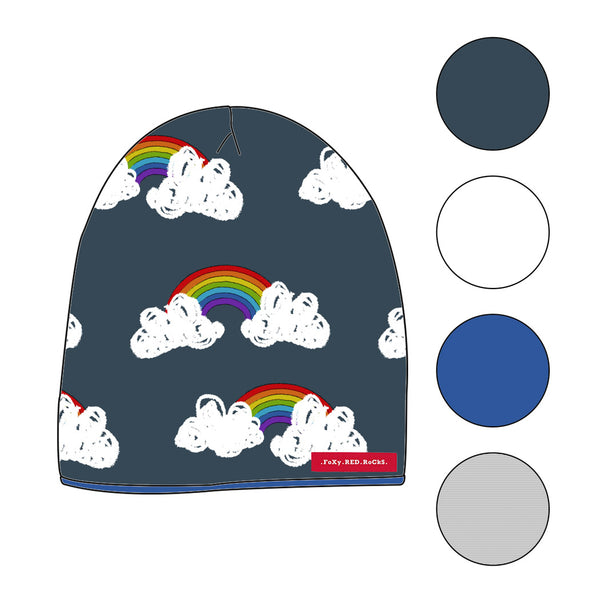 Be A Rainbow In Someone Elses Cloud - Beanies - FoXy RED RoCkS