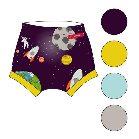 Fly Me To The Moon - Shorts - FoXy RED RoCkS