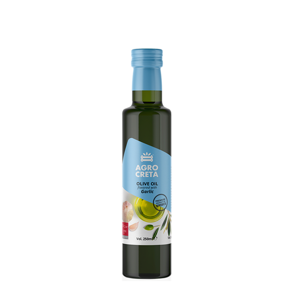 AGROCRETA Extra Virgin Olive Oil with Garlic - FarmOrganica