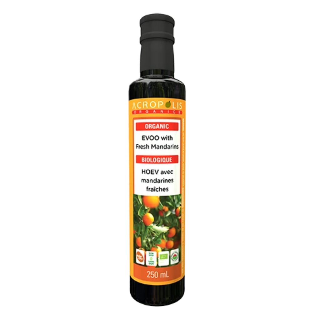 Acropolis Organics Extra Virgin Olive Oil With Fresh Mandarins, 250 mL | FarmOrganica