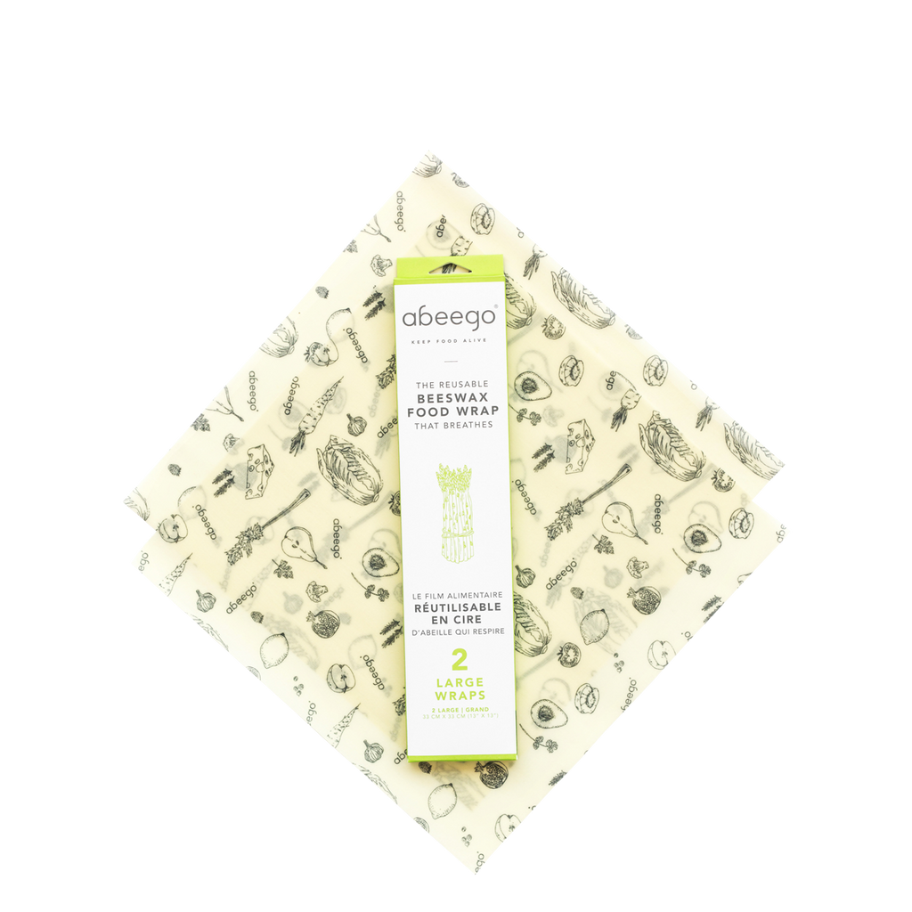 Abeego Natural Beeswax Large Food Wraps - FarmOrganica