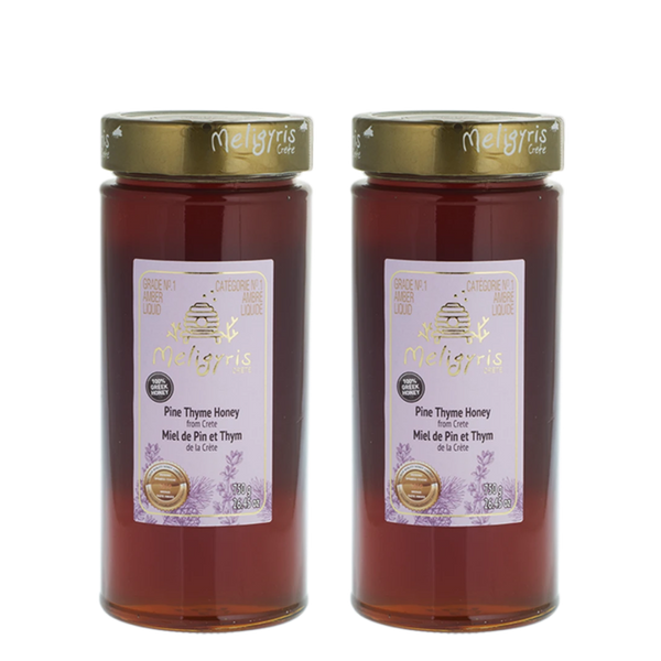Meligyris Honey Pure Pine Thyme Honey Bundle, 2 x 750 g | FarmOrganica