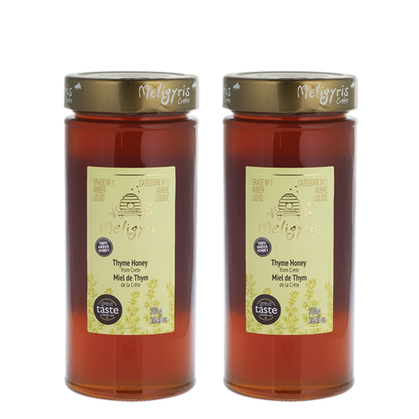 Meligyris Honey Pure Thyme Honey Bundle, 2 x 750 g | FarmOrganica