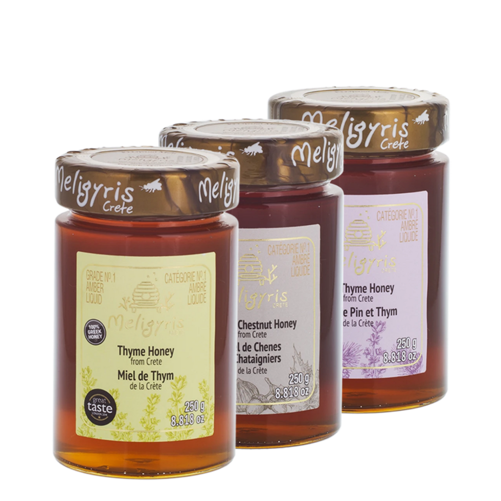 Meligyris Honey Sampler Bundle, 3 x 250 g | FarmOrganica