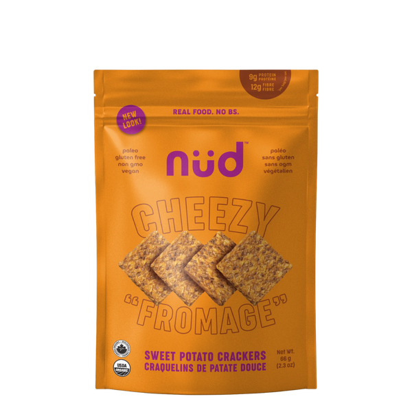 Nud Fud Snacks Cheezy Crackers, 66 g | FarmOrganica