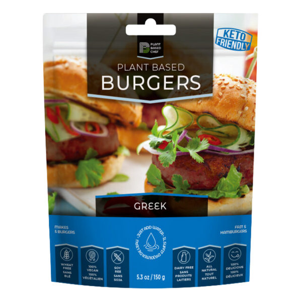Plant Based Burgers, Greek, 150 g | FarmOrganica