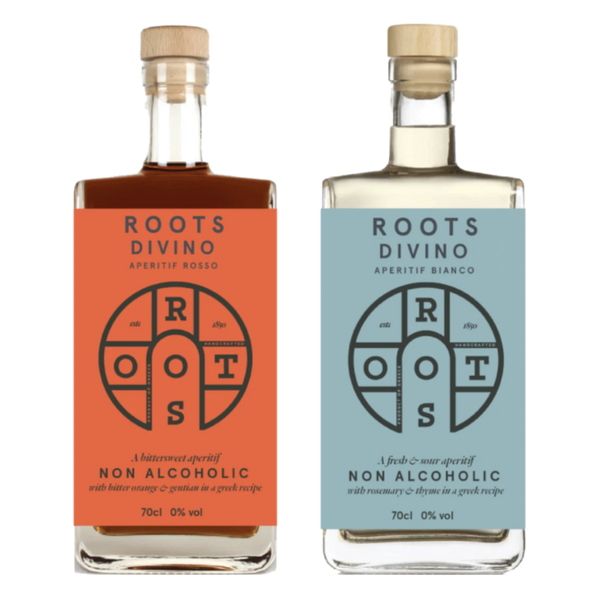 Roots Divino Non-Alcoholic Spirit Sampler Bundle, 2 x 700 mL | FarmOrganica
